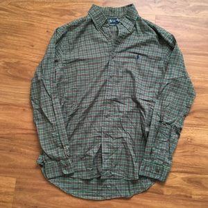 Vintage Green polo Ralph Lauren plaid shirt